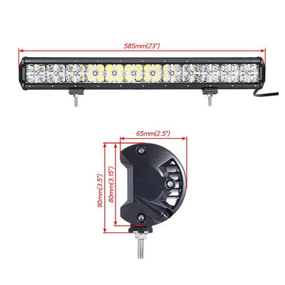 الصين Made in China auto roof white Cross DRL lighting 21.5'' cree 120w 7D rally led driving light bar المزود