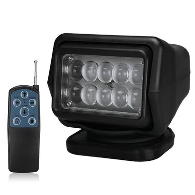 الصين 4000 Lumens Waterproof LED Search Light Rotating Remote Control 12v / 24v مصنع