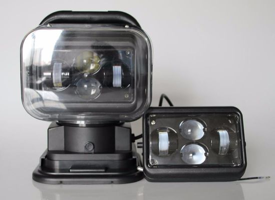 الصين 7 Inch Square Led Marine Searchlight , 30 Degee Spot 12v Truck Led Headlights مصنع
