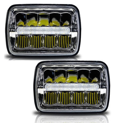 الصين H / Low Beam Led Car Headlamps With Parking Light , Square Led Headlights For Trucks مصنع