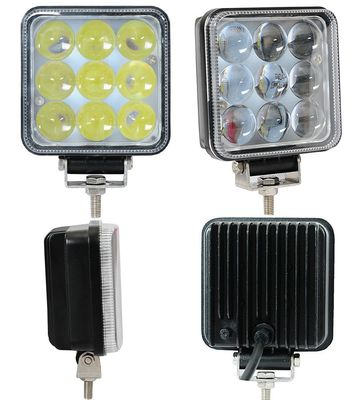 الصين 27W Truck Mounted Work Lights , 4D 4 Inch Square Led Work Lights 1800lm Lumens مصنع